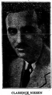 Clarence Niesen - August 20, 1931