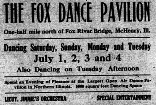 Fox Pavilion Ad - June 29 1922, p 4