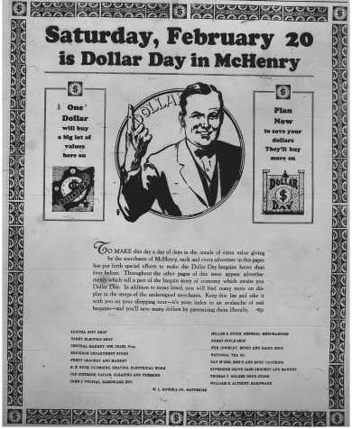 Dollar Day - Feb 18, 1926